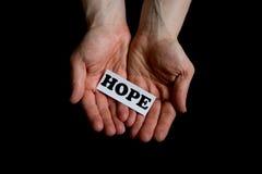 Coups de main, espoir de offre Image libre de droits