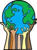 Coups de main pour le monde Photos stock