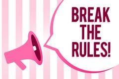 Coupure conceptuelle d'apparence d'écriture de main les règles La présentation de photo d'affaires apportent des modifications fa illustration libre de droits