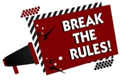 Coupure conceptuelle d'apparence d'écriture de main les règles Le texte de photo d'affaires apportent des modifications faire tou illustration libre de droits
