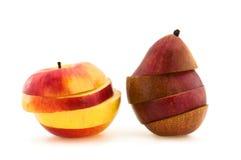 Coupure d'Apple et de poire Photographie stock libre de droits