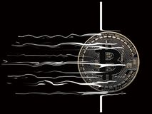 Coupure de Bitcoin  Photographie stock libre de droits