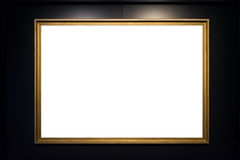 Coupure de blanc de photo de peinture d'Art Museum Frame Vintage Ornate Images libres de droits