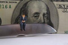 Coupure de budget commercial image libre de droits