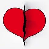 Coupure de coeur Images libres de droits