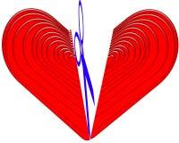 Coupure de coeur illustration stock