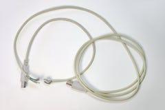 Coupure de fil au milieu de câble d'usb Collage du câblage Photos libres de droits