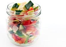 Coupure de légumes crus Image libre de droits