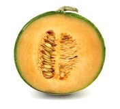 Coupure de melon de cantaloup Photo stock