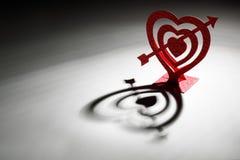 Coupure de papier de forme de coeur Image libre de droits