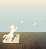 Coupure de papier de pièce d'enfant Image libre de droits