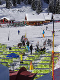 Coupure de prise de skieurs Image libre de droits