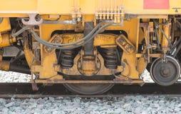 Coupure de roue de plan rapproché et système de la suspension de train Image libre de droits