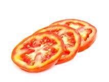 Coupure de tomate Photo stock