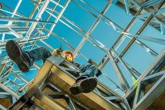 Coupure de travailleur industriel photo stock