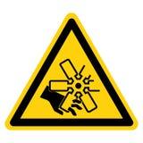 Coupure des doigts ou du signe de symbole de fan de moteur de main, illustration de vecteur, isolat sur le label blanc de fond EP illustration de vecteur