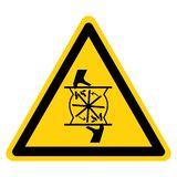 Coupure des doigts tournant le signe de symbole de lame, illustration de vecteur, isolat sur le label blanc de fond EPS10 illustration libre de droits