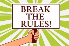 Coupure des textes d'écriture de Word les règles Le concept d'affaires pour des changements Make font tout symbole différent de p illustration stock
