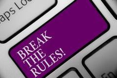 Coupure des textes d'écriture les règles La signification de concept apportent des modifications faire tout clé différente de cou illustration libre de droits