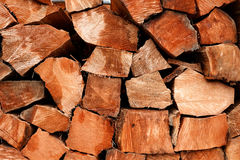 Coupure en bois sauvée de logarithmes naturels de cèdre cru de fractionnement de vieil accroissement Photo stock