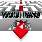 Coupure financière de liberté par des factures de faillite de problèmes d'argent Photographie stock