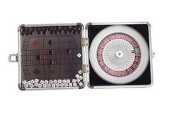 Coupure scellée américaine de panneau de jeu de table de roulette Photos stock