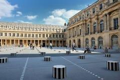 Cour binnen Royal Palace in Parijs Stock Afbeelding