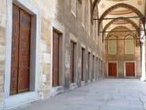 Cour bleue de mosquée Photo stock