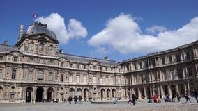 Cour Carrée kwadrata podwórze louvre pałac w Paryż zbiory