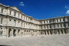 Cour Carree courtyard in Paris Stock Image