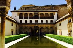 Cour chez Alhambra Palace Images stock