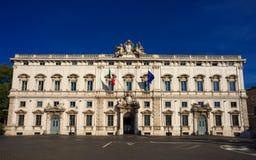 Cour Constitutionnelle de la République italienne Photographie stock