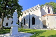 Cour d'église catholique de gulangyu dans la ville de Xiamen, porcelaine Image stock