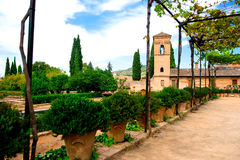 Cour d'Alhambra Image stock