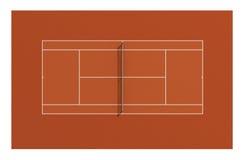 Cour d'argile de tennis illustration de vecteur