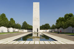 Cour d'honneur au cimetière de guerre de Margraten Photo libre de droits