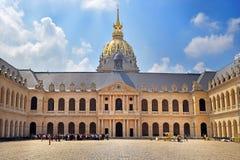 Cour d'honneur au DES Invalides d'hôtel à Paris, France image libre de droits