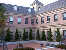 Cour d'immeuble de brique Photo libre de droits