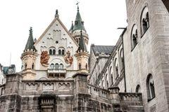 Cour d'intérieur de Neuschwanstein Image libre de droits