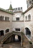 Cour dans l'abbaye de Rocamadour image stock