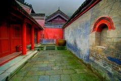 Cour dans le temple de Wudang Images stock