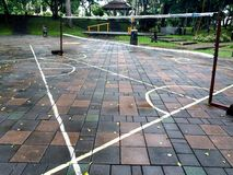 Cour de badminton Image stock