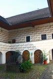 Cour de forteresse de Zumberk Photos libres de droits