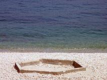 Cour de jeu à la mer Photo libre de droits
