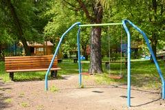 Cour de jeu d'enfants Photo libre de droits