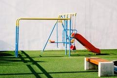 Cour de jeu 2 d'enfants Photos libres de droits