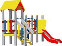 Cour de jeu d'enfants de vecteur Images libres de droits