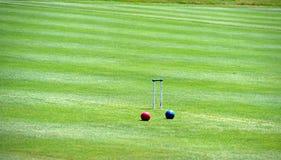 Cour de jeu de croquet Photos stock
