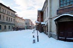 Cour de jeu de la ville russe Photographie stock libre de droits