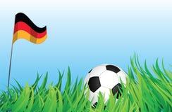Cour de jeu du football, Allemagne Illustration de Vecteur